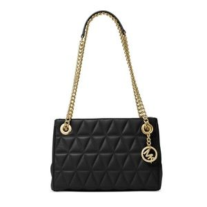 Michael Kors quilted gold chain shoulder messenger